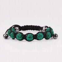 бесплатная доставка! качество 9 зеленый GR rustle кристалл диско доли из пива руинах браслет, ручной работы браслеты Самба