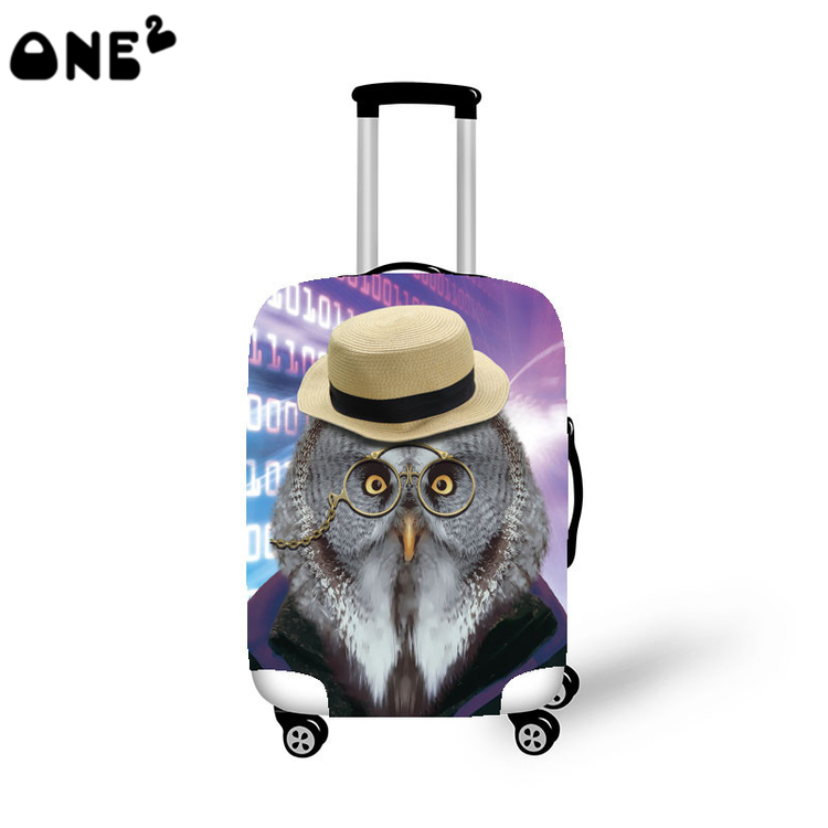 ONE2 new design Brand cartoon pattern elastic travel luggage cover for 22 26 inch suitcase transparent