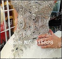 бесплатная доставка! белый / слоновая кость милая декольте империи свадебное платье фата перчатки без