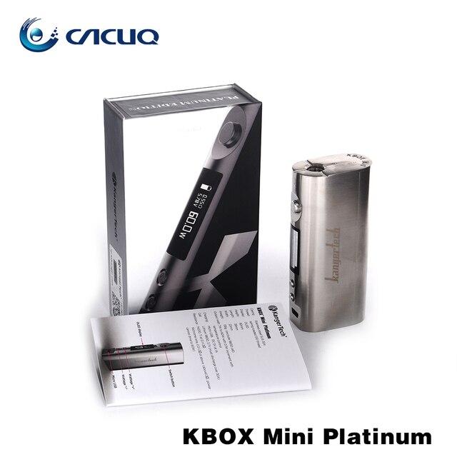 Original Kang Kbox Mini Kit de Platino 7 W-60 W caja mod caja de control temratural mod buen cigarrillo electrónico mod