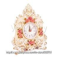 110704a-тонкой ручной задыхался искусства лучшие продажи часы сад стилей в 3D резные розы время бесплатная доставка