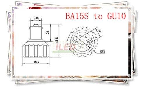 BA15S к GU10 адаптер конвертер адаптер лампа GU10 к BA15S преобразователя противопожарные PBT 10 шт