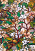 5 Meters Static Cling Colorful Frosted Magnolia Window Film Decor Bathroom Living Room Stained Glass Privacy