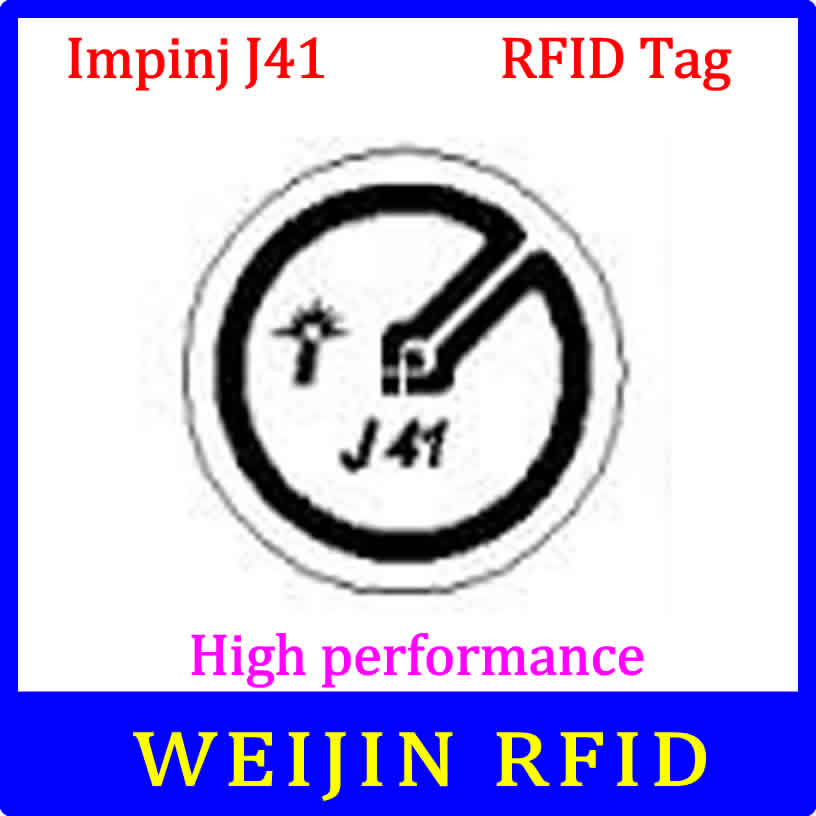 UHF RFID Tag Impinj J41 Dry Inlay 915mhz 900mhz 868mhz 860-960MHZ  EPCC1G2 ISO18000-6C Smart Card Passive RFID Tags Label