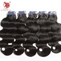 "5pcs/lot 100% virgin Brazilian hair weaves grade 6a body wave human hair extensions 8""-34"" mix length DHL free shipping"