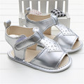 2016 Limited Sapato Infantil Menina Kids Shoes For Girl Beauty Silver Leather Princess Shoes Summer Baby Girls sandals For 0-18M