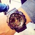 Hot sales Men Sports Relógios de Luxo Da Marca Camuflagem Militar Relógios LED Digital Camo À Prova D' Água Relógios de Pulso Relogio masculino