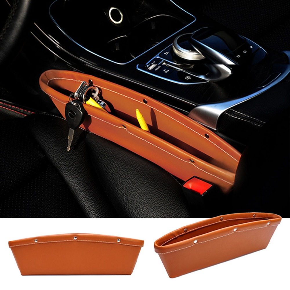 2pc new coming leather pu car storage organizer high for 2 box auto profondo