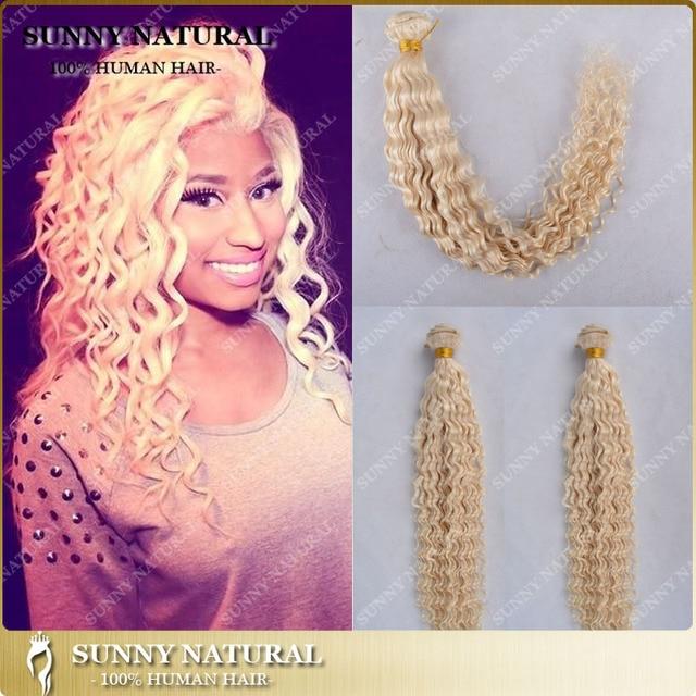 Nicki Minaj Honey Blonde Brazilian Hair 1bundle Curly Blonde Hair