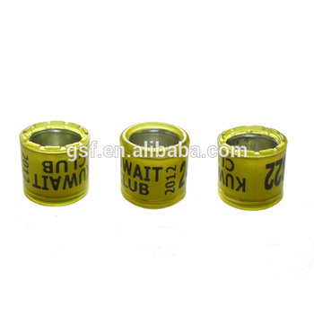 Use for racing pigeon aluminium and plastic pigeon ring can put on customized information easy to read