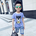 Batman boys t-shirts cotton kids t-shirts striped boys clothes short sleeve kids clothes Infantis vetement children Clot