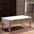 De grande porte apartamento mobília da sala de estar mesa de chá com madeira maciça armário de armazenamento end mesinha mesa de café de luxo