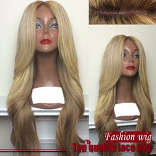 New Arrive Cheap Price Wave Wigs 180% Density Synthetic Lace Front Wigs Three Tone Color Heat Resistant Synthetic Hair Wigs