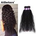 Alibarbara 8A 3 pacotes malaio virgem do cabelo encaracolado # 1b malásia profunda curly não transformados cabelo humano Barato cabelo encaracolado malaio