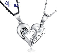Drop Shipping Newest Design 925 Sterling Silver Unique Love Heart Necklace For Romantic Lovers Engagement Wedding
