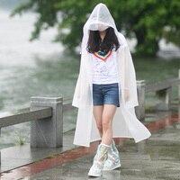 Fashion EVA Raincoats For Women Men Semitransparent M L XL Hiking Travel Outdoor Work Rain Coats