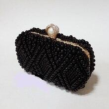 8657 schwarz Perlenstickerei Lady fashion Night clutch abendtasche handtasche box fall IN KOSTENLOSER VERSAND