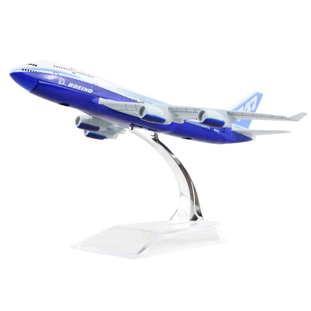 Boeing 747 16cm Alloy Metal Airplane Models Child Birthday Gift Chiristmas Gift Plane Models Free Shipping
