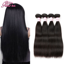 Cheap Malaysian Virgin Hair Straight 4 Bundles Virgin Malaysian Straight Hair Bouncy Weave Beauty Gluna Human Hair Extensions