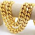 Colar banhado a Ouro de qualidade superior Moda HipHop Franco cubano jay-z enorme 100 cm Longo colar Declaração Elo Da Cadeia homens jóias