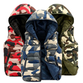 2016 Nuevo Camuflaje Ocasional de Los Hombres Chaleco Hombres Chaleco de Invierno Outwear Caliente de Algodón de Alta Calidad Del Ejército Militar de Camo de Los Hombres Chaleco Ocasional
