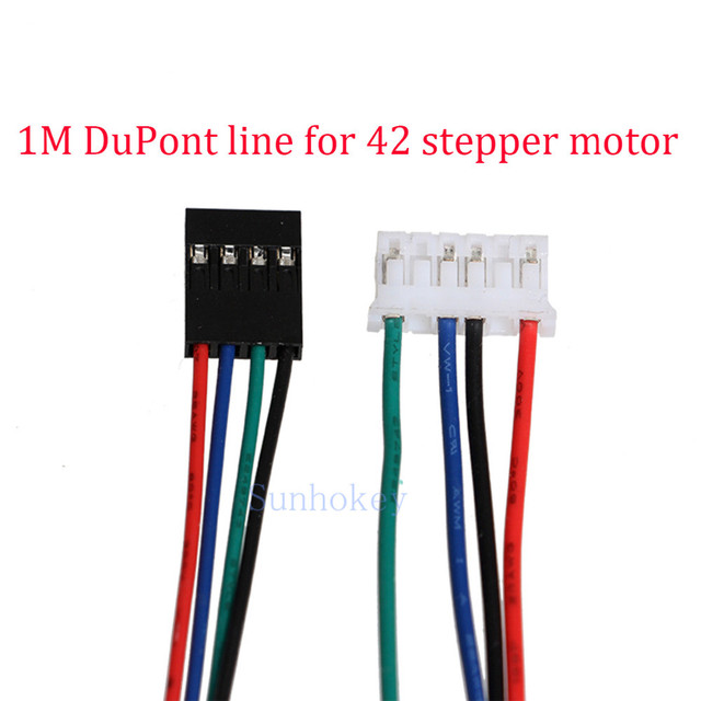 3D Printer parts 10pcs/lot Cable jumper line 1M DuPont line 4pin two-phase four-lead motor connector cables for 42 stepper motor