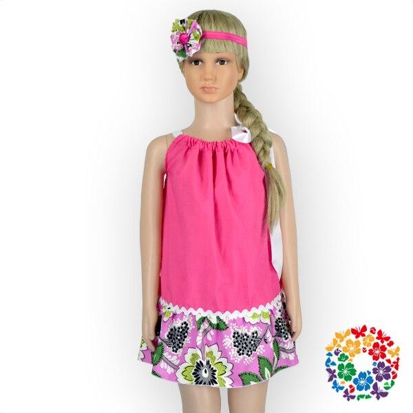 8315a8ce8ae Hot Pink Girl Summer Dress With Match Headband 3-5 Year Old Girl Pillowcase  Dress