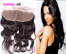 Cheap 8A Unprocessed Virgin Human Brazilian Lace Frontal Closure 13×6 Ear To Ear Lace Frontal Body Wave With Baby Hair In Stock