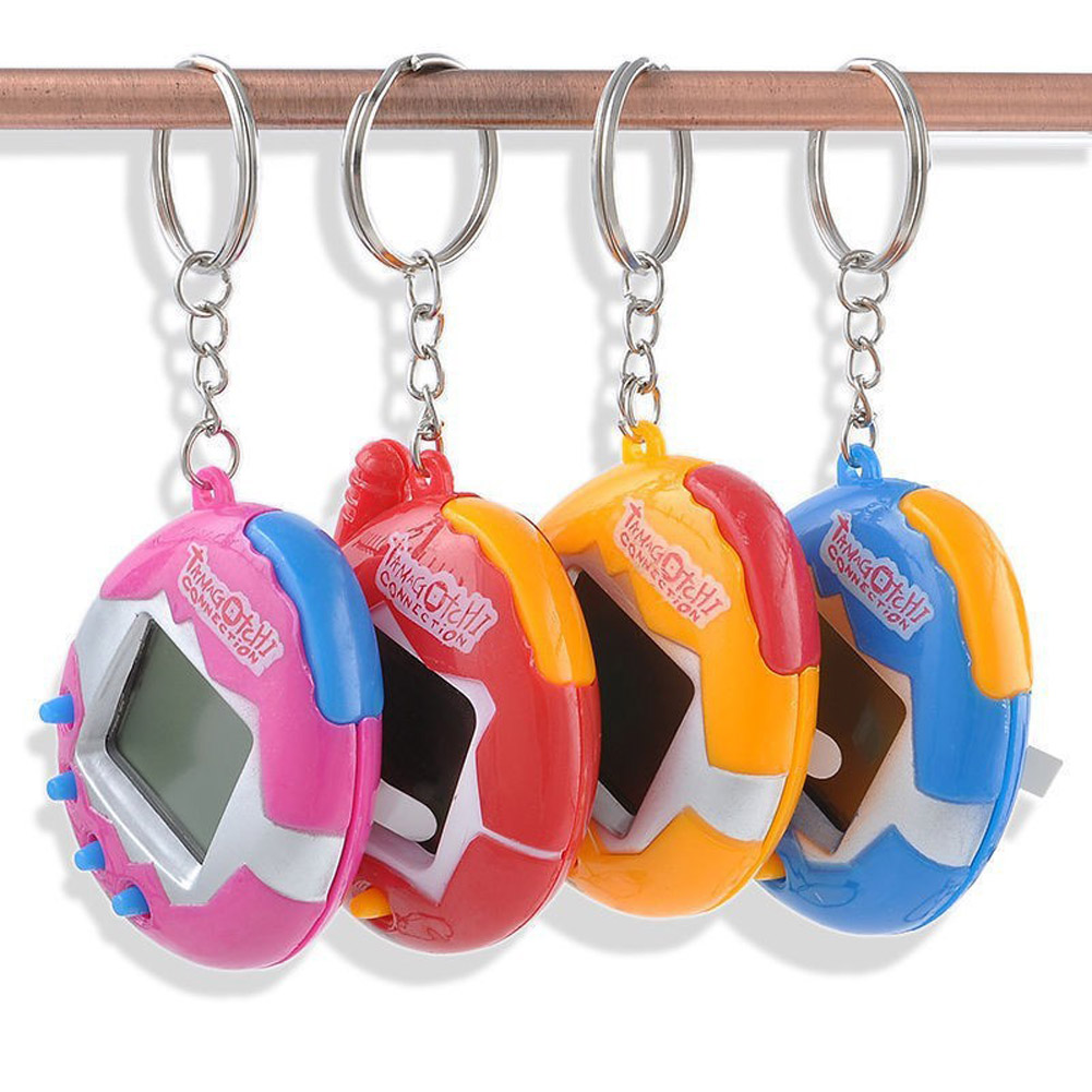 1 PC Color Random Virtual Cyber Digital Pets Electronic Tamagochi Pets Retro Game Funny Toys Handheld Game Machine For Gift