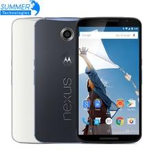 "Original Motorola Google Nexus 6 XT1103/XT1100 Mobile Phone Quad Core 3GB RAM 32/64GB ROM 5.96"" 4G LTE Dual SIM Smartphone"