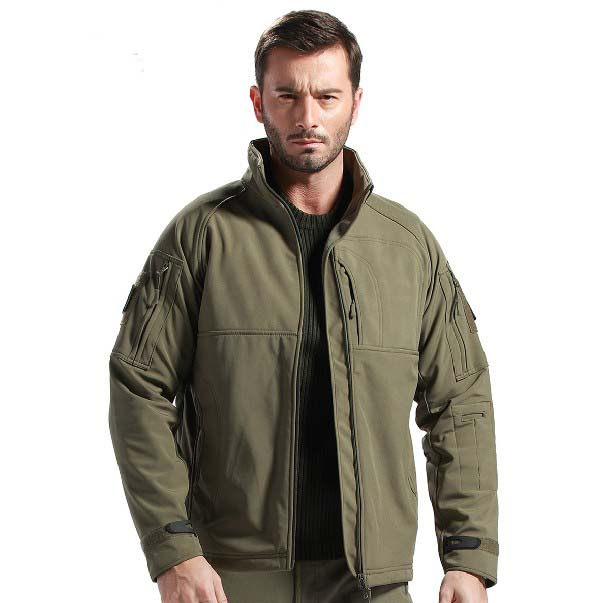Self-Conscious Multicam Outdoor Commander Camo Jacket Mens Tactical Hunting Waterproof Windproof Jacket Soft Shell With Fleece Lining High Quality And Low Overhead Camping & Hiking