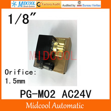 High pressure solenoid valve PG-M02 port 1/8″ BSP AC24V orifice 1.5mm two position, two way normal colse