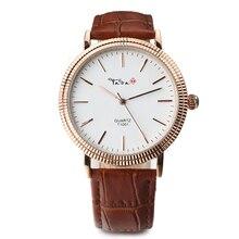 TADA Marca Relojes de Cuarzo de Las Mujeres relojes de Lujo Reloj de Cuero Casual Reloj Mujer Reloj hombre relojes Relogio masculino
