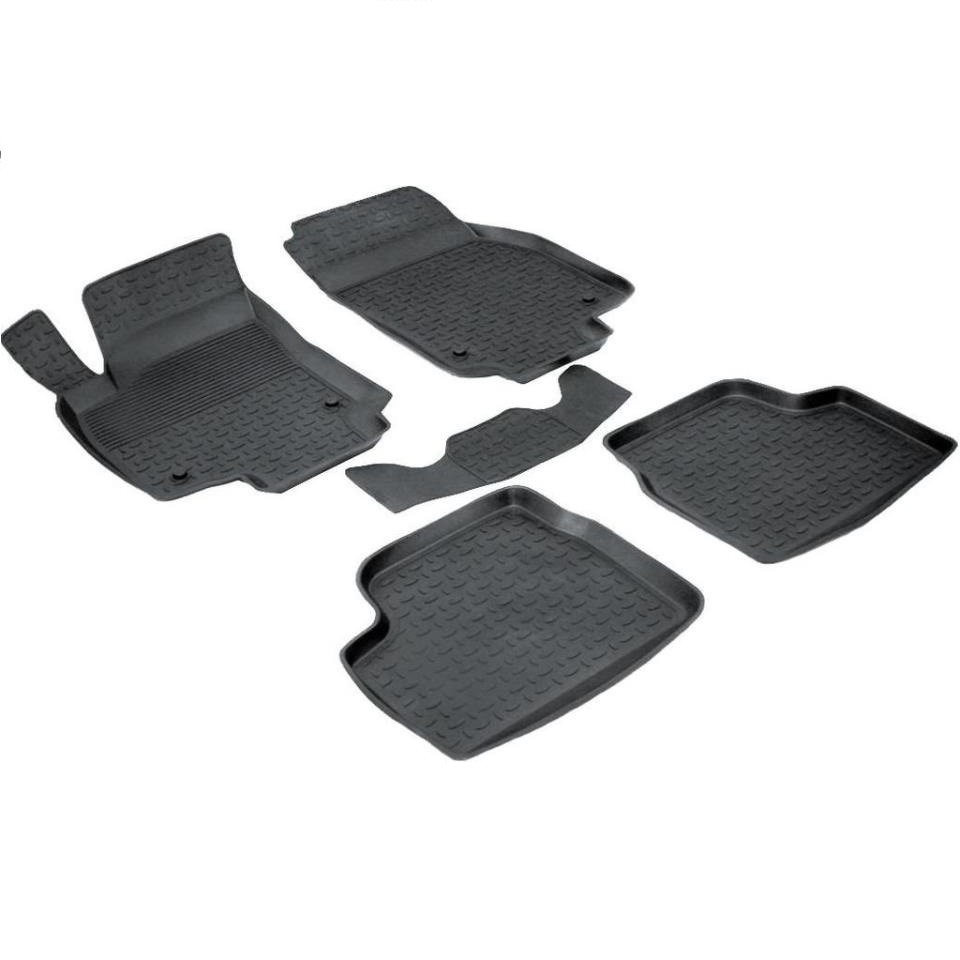 цена на For Chevrolet Cruze 2009-2015 rubber floor mats into saloon 5 pcs/set Seintex 01443
