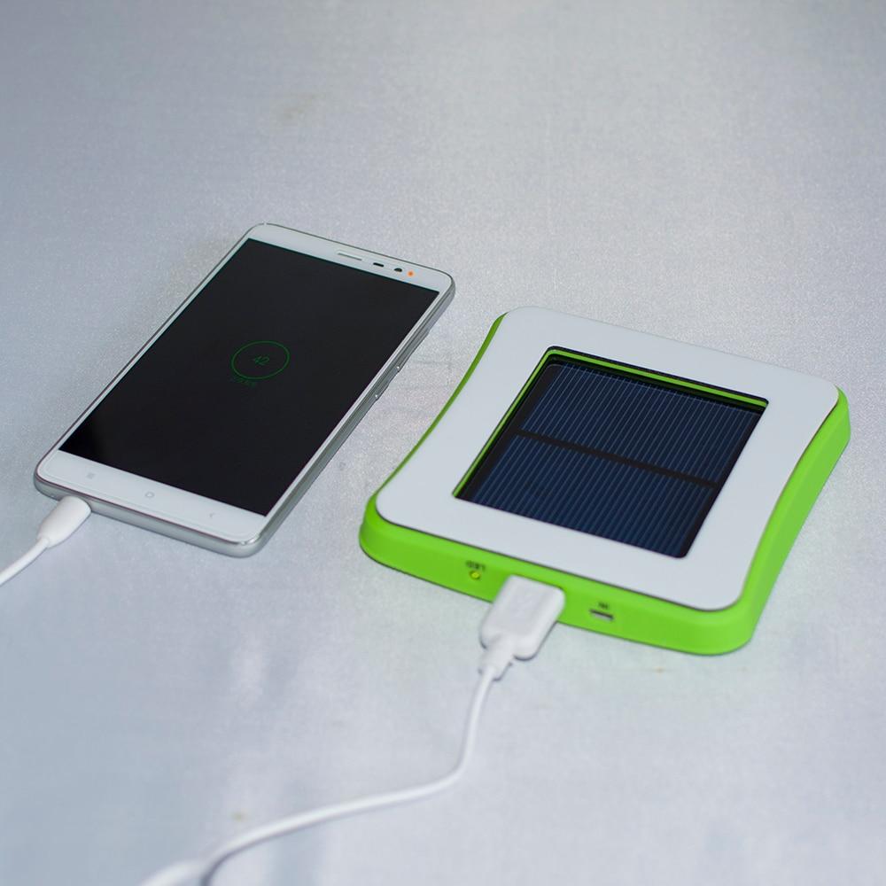 1 unid sunever abs material de la ventana de vidrio cargador solar power bank pa