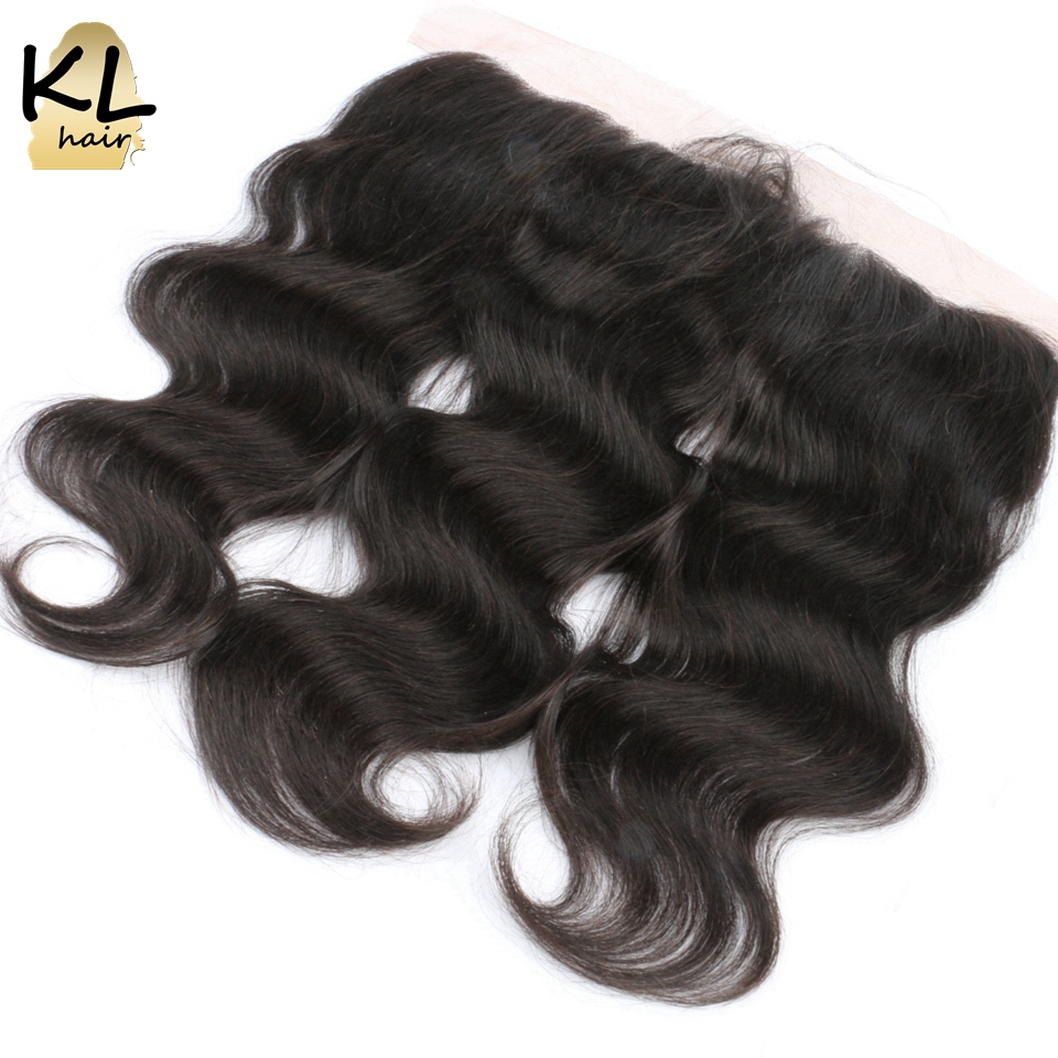 ФОТО KL Hair Body Wave 13*4 Ear To Ear Lace Frontal Closure With Baby Hair Brazilian Remy Hair Human Hair Free Part Bleached Knots
