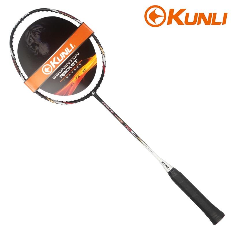 Free Shipping 100%original KUNLI Badminton Racket FORCE SNIPE 79 Full Carbon Professional TB NANO Technology Feather Racket