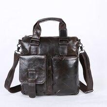 Nesitu, винтажные мужские сумки-мессенджеры из натуральной кожи, портфель # M259