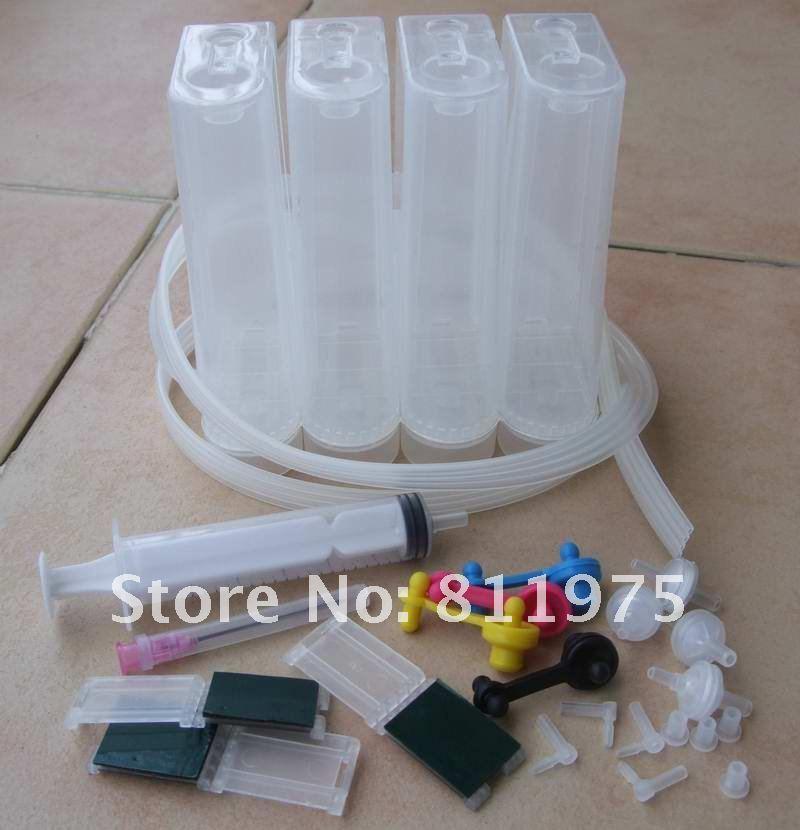Система непрерывной подачи чернил Универсальный 4 вида цветов Набор для ciss с аксессуарами чернильный бак для hp принтеры Canon
