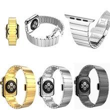 Высокое качество ссылка браслет для носо Apple , часы полоса 42 мм черный серебристый золото из нержавеющей стали ремешки для Iwatch ремень