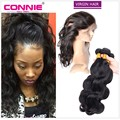 360 Lace Frontal Closure With Bundles Pre Plucked Lace Frontal Weave Body Wave Brazilian Virgin Hair With Frontal Closure