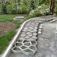 Pavement Mold Diy Plastic Path Maker Mold Manually Paving Cement Brick Molds The Stone Road Concrete