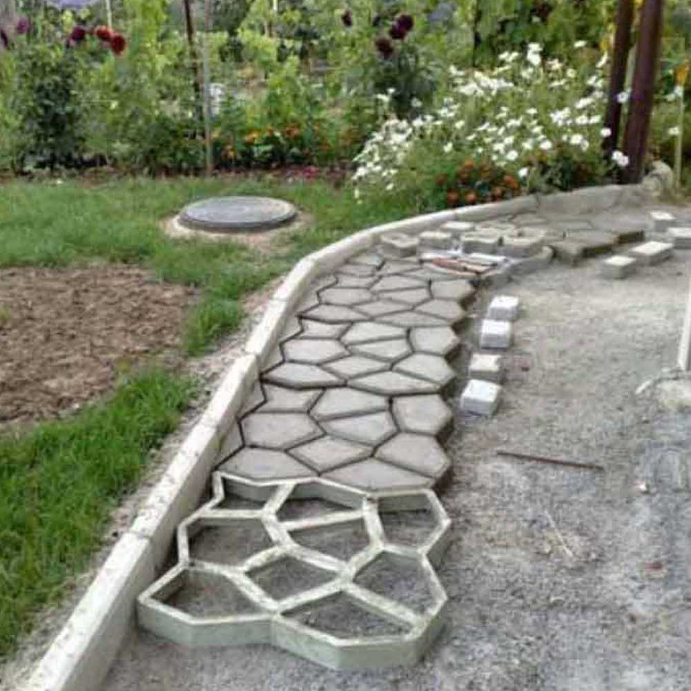 Superb Pavement Mold Diy Plastic Path Maker Mold Manually Paving Cement Brick Molds  The Stone Road Concrete