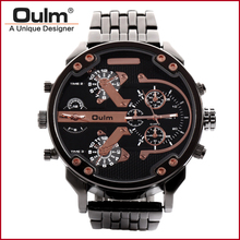 цена на wrist watch china manufacturer, oulm quartz men watch, men big dial alloy wrist watches