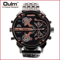 Man Wristwatch China Manufacturer Oulm Brand Quartz Watches Men Watch Men Big Dial Analog Dial Display New with tags HT3548