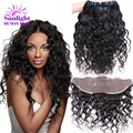 Peruvian Water Wave With Lace Frontal Closure 13x4 Human Hair Closure With Bundles 100% Human Hair Sew In Extensions Ali Moda