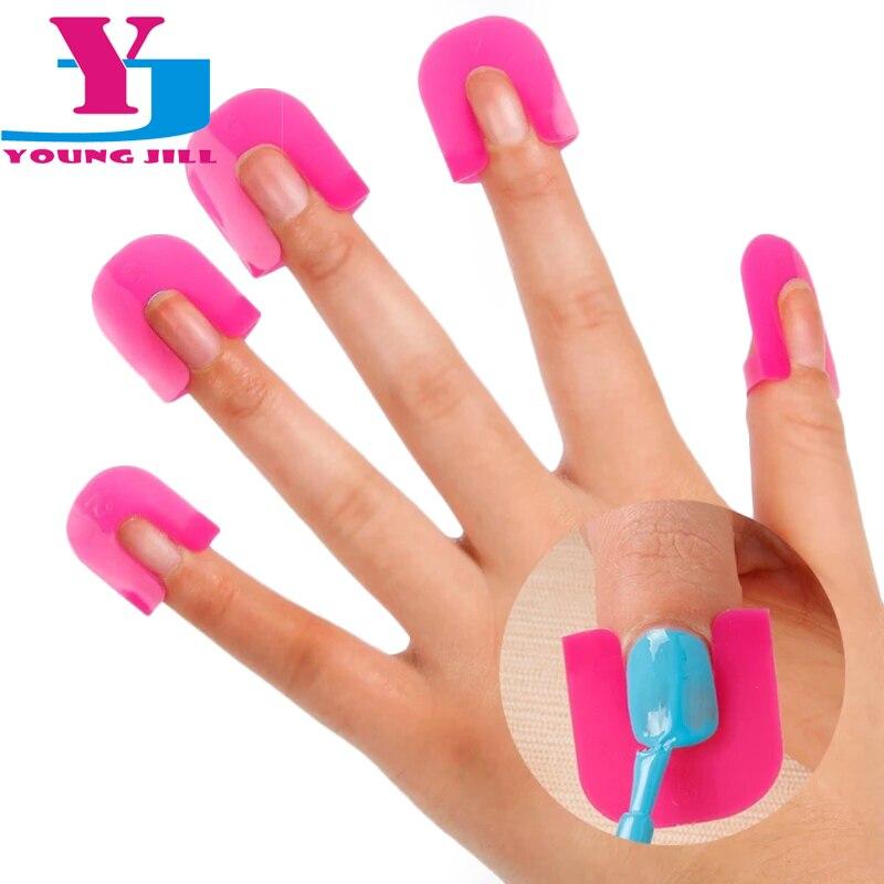 New 26pcs / set Kryt na nehty Model Profesionální šablony Manikúra odolná proti rozlití Manikúra na nehty Ochranný štít Ochrana nehtů
