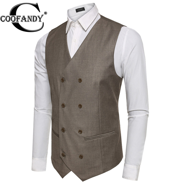 COOFANDY Dress Vests For Men Slim Fit Suit Sleeveless Business Waistcoat Masculino Terno Chaleco Vestir Hom US Size S/M/L/XL/XXL