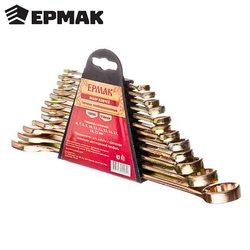 Juego de llaves ERMAK 12 artículos (6-22mm) llave de destornillador ruedas de reparación bicicleta de coche descuento 736-080