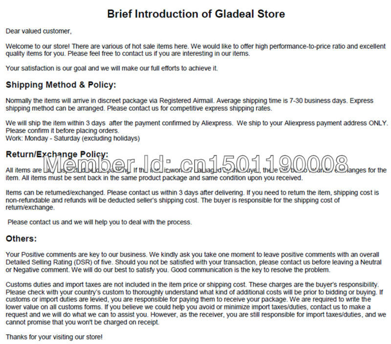 Brief Introduction of Gladeal Store Aliexpress